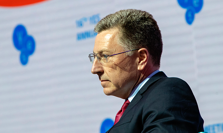 Former McCain Institute Executive Director Kurt Volker at a September event in Ukraine, where he was U.S. special envoy. He resigned as special envoy and from McCain after his name surfaced in a whistleblower report raising concerns about the White House's dealings with that country. (Photo courtesy U.S. Embassy, Ukraine)