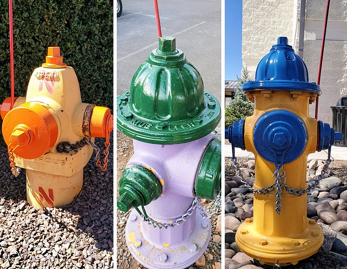 Tusayan Fire District is in the process of painting fire hydrants in Tusayan. (Photo/TFD)