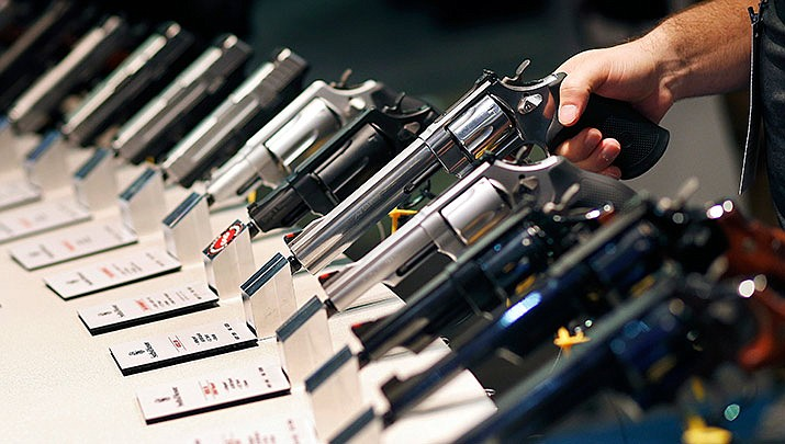 The Crossroads of the West Gun Show will be held at Findlay Toyota Center in Prescott Valley from 9 a.m. to 5 p.m. on Saturday, Oct. 12 and from 9 a.m. to 4 p.m. on Sunday, Oct. 13. (AP Photo/John Locher, Courtesy file)