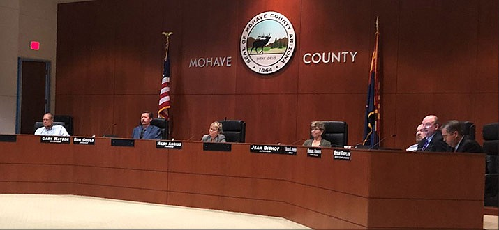 Mohave County Board of Supervisors on Monday, Oct. 7, 2019. (Photo by Agata Popeda/Daily Miner)