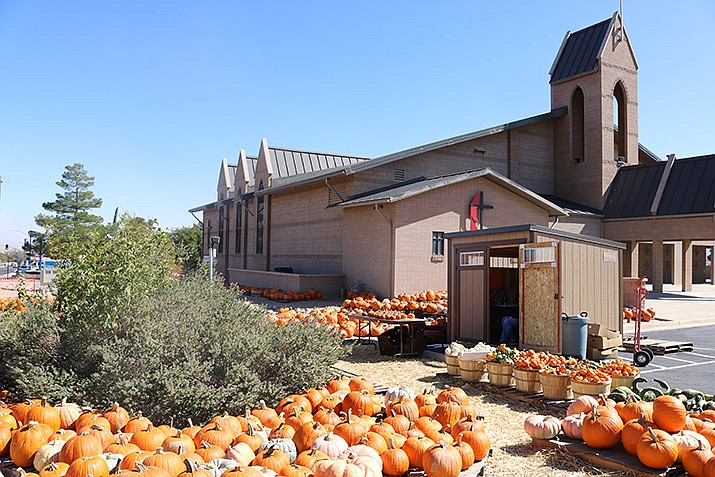 The Pumpkin Patch at St. John's United Methodist Church is now open through the month of October.  (Photo by Travis Rains/Daily Miner)