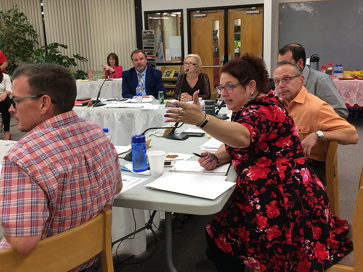 The Humboldt Unified School District Governing Board is seen at a meeting. (Courier file photo)
