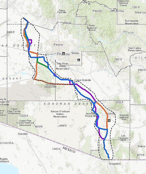 A proposed new highway from Nogales to Wickenburg has created some opposition within the state. (Courtesy)