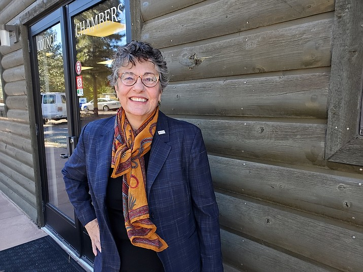 Cynthia Seelhammer was recently hired as interim town manager for Tusayan. (Erin Ford/WGCN)