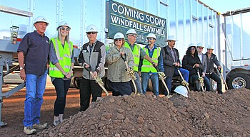 NewLife Forest Products hosts official ground breaking for Windfall Mill photo