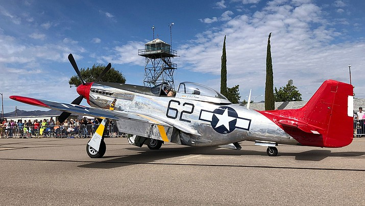 A fighter plane is shown at Kingman Municipal Airport during the 2018 AirFest. (Courtesy photo)