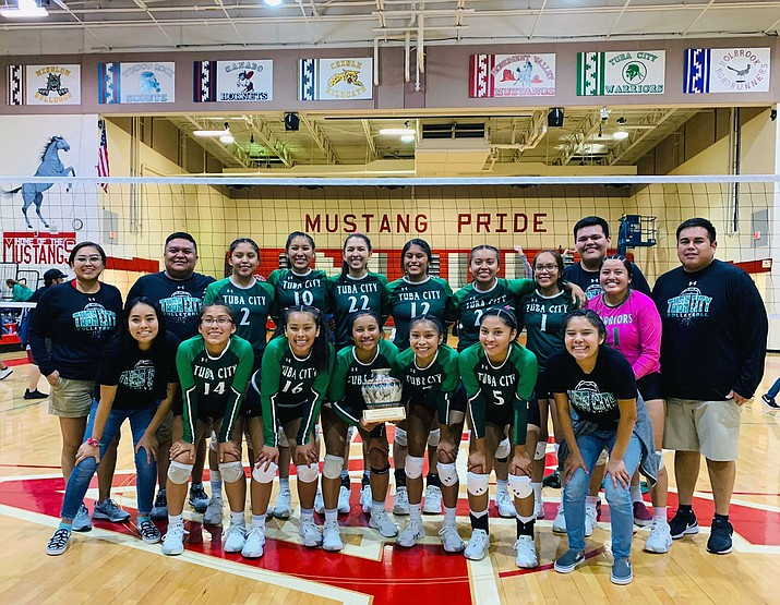 The Tuba City High School Lady Warriors won the 2019 Kayenta Township's MV Mustangs Volleyball Invitational in Kayenta Sept. 28. (Submitted photo)