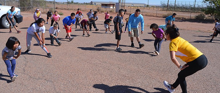 Winslow Indian Health Care Center held a wellness camp for kids in October at Red Sands Christian School. (Todd Roth/NHO)