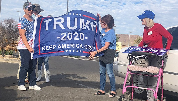 """""""Don't impeach Trump!"""", """"Best president ever!"""", """"He's not a socialist!"""" – were among the most popular exclamations. (Photo by Steven Robinson/ Mohave County Republican Party)"""