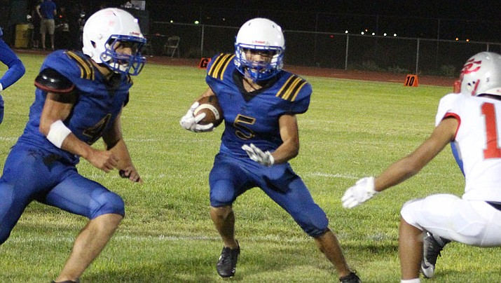 Gavin Randall and the Bulldogs travel to No. 3 ranked Northwest Christian at 7 p.m. Friday. (Daily Miner file photo)