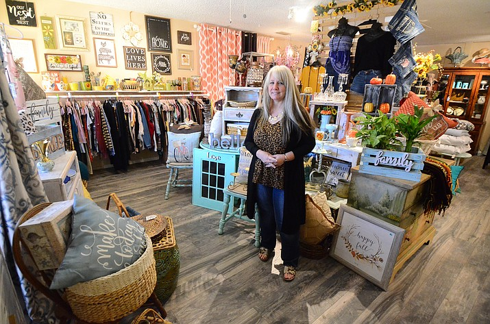 Iva Wood opened Sissy's Consignment Cottage Boutique on South Main Street in Cottonwood Aug. 31. VVN/Vyto Starinskas