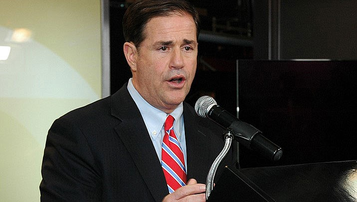 Arizona Gov. Doug Ducey favors a law that would allow elected county officials to be removed from office. (Photo by Howard Fischer/Capitol Media Services)