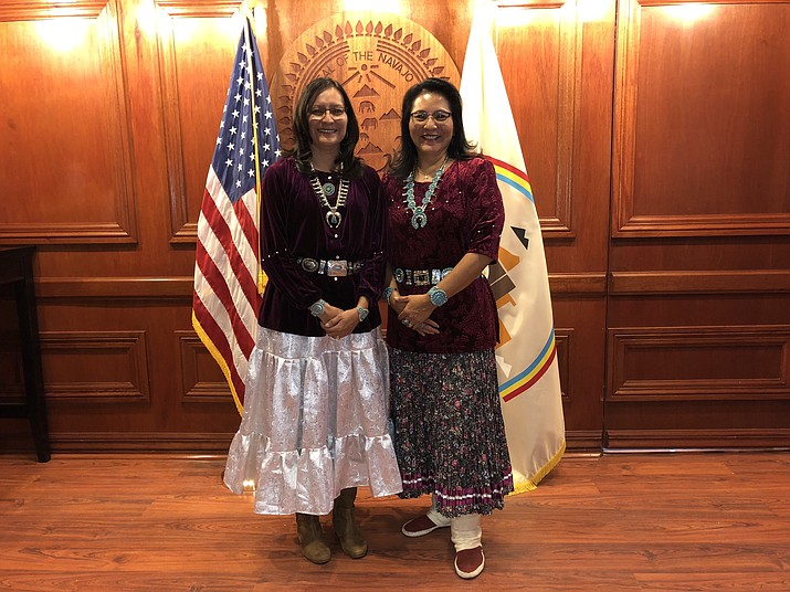 First Lady Phefelia Nez (left) was appointed to the Missing and Murdered Indigenous Women Task Force in New Mexico and Second Lady Dottie Lizer (right) will also help work with the state of Arizona's study committee. (Office of the President and Vice President)