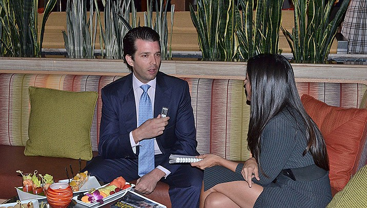 Donald Trump Jr., shown in this 2013 file photo, is a strong advocate for his father, U.S. President Donald J. Trump. (Photo by AMGW Agency, cc-by-sa-2.9, https://bit.ly/2BCmZu4)