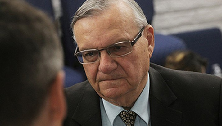 Former Maricopa County Sheriff Joe Arpaio is seeking to erase his Contempt of Court conviction. (Photo by Howard Fischer/Capitol Media Services)