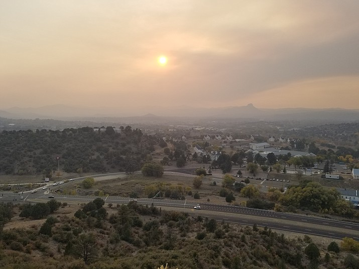 Heavy smoke from burning operations on the Kaibab National Forest has made its way into Chino Valley, Prescott, Prescott Valley and even as far south as Walker. (Max Efrein/Courier)