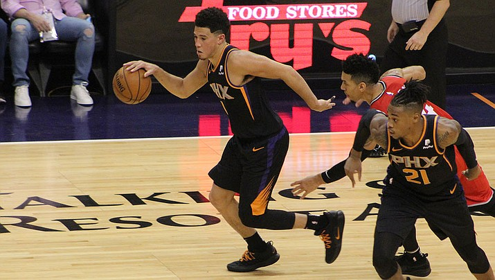 Devin Booker had 22 points and 10 assists Wednesday night to lead the Suns to a 124-95 win over the Sacramento Kings in the season opener for both teams. (Daily Miner file photo)