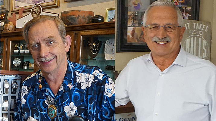 Jim Lamerson, left and Steve Sischka are facing off in a runoff election Nov. 5 for a seat on the Prescott City Council. (Courier file photos)