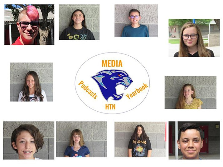 A team of 18 students has been creating, filming and producing Heritage Middle School's daily announcements. (Heritage Middle School/Courtesy)