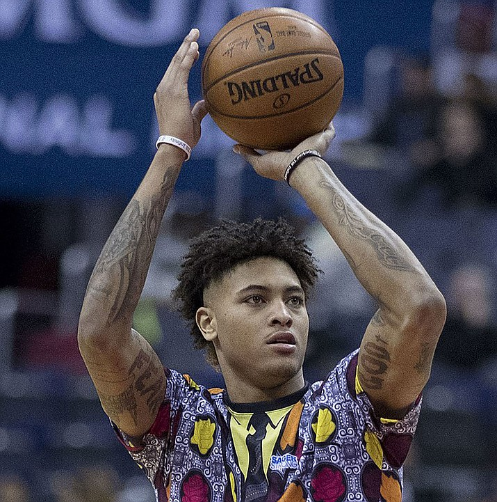 Phoenix's Kelly Oubre Jr. scored a team-high 23 points Friday night in a 108-107 loss to the Nuggets. (Photo by Keith Allison, CC by 2.0, https://bit.ly/2penFU4)
