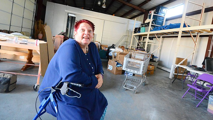 Verde Valley Homeless Coalition Director Raena Avalon and her volunteers were moving items into a new homeless shelter building in Cottonwood last week. The new location is on North Main Street, between Eighth and 10th streets, across from the Camelot RV Park. VVN/Vyto Starinskas