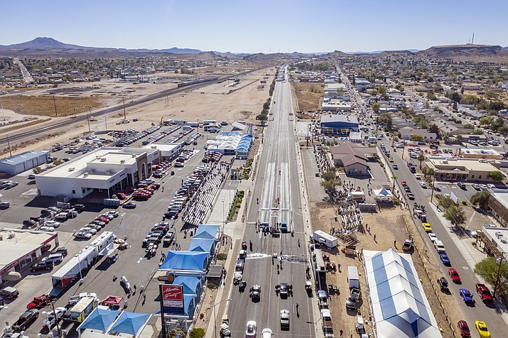 Drag race enthusiasts came to Kingman from as far away as Florida to watch the Route 66 Kingman Street Drags Oct. 25-27, See the video below.