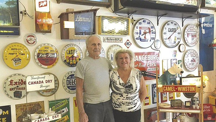 Warren and Susan Sorensen have been acquiring collectibles for 42 years. (Photo by Pam Ashley/Today's News-Herald)
