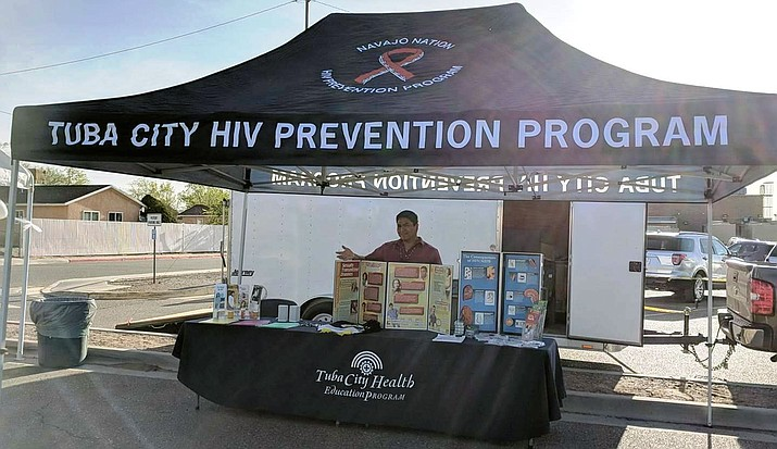 Loren Bahe, health education technician with the Tuba City Service Area, provided outreach during the 2018 Public Health Week. (Submitted photo)
