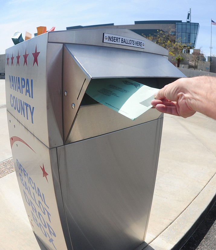 Wednesday, Oct. 30 is the last day for voters to mail their ballots through the U.S. Postal Service in order for them to arrive in time to be counted in the Nov. 5 general election, according to information from Yavapai County Recorder Leslie Hoffman's office. (Les Stukenberg/Courier File Photo)
