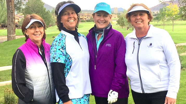 The ladies pictured played in the last Team event on September 23rd at Continental.  Lori Zaun, Joanne Puzak, Lynn Winslow, and Donna Cantello represented the club well.  Other members of the Team were Penny Fischer, LeeAnn Morgan, Julie Larson, Barbara Erickson and Marion Maby.