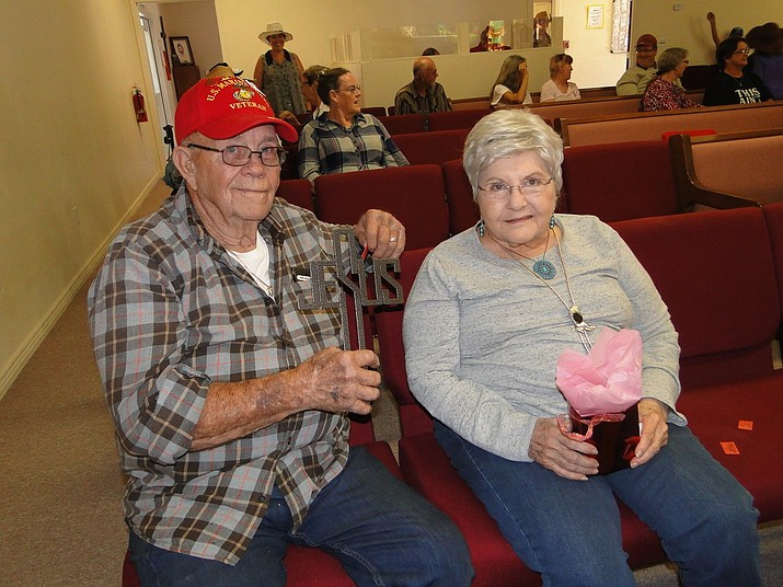 Willie & Barbara Pelham both won prizes at the Western Days held at Spring Valley Church Saturday Oct. 26. (Courtesy)