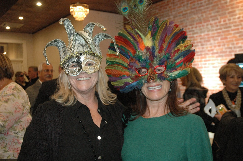 Linda Thein and Anne-Marie Szabo at the reveal party for the 2020 Dancing for the Stars event at The Grand Highland Hotel Wednesday, Oct. 30. (Jason Wheeler/Courier)