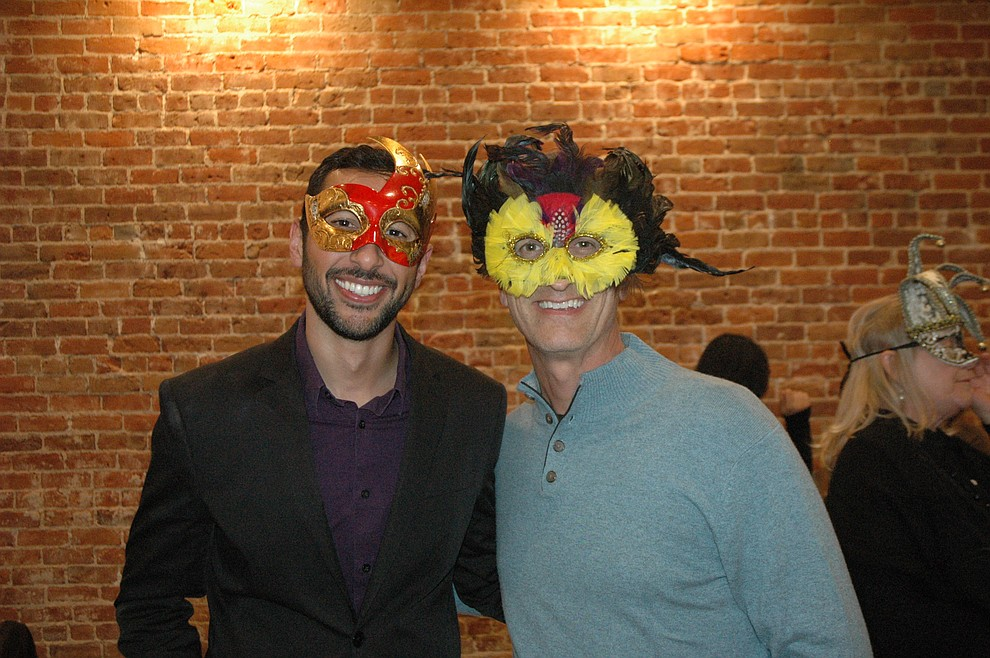 Zach Leonard and Dan Beck at the reveal party for the 2020 Dancing for the Stars event at The Grand Highland Hotel Wednesday, Oct. 30. (Jason Wheeler/Courier)