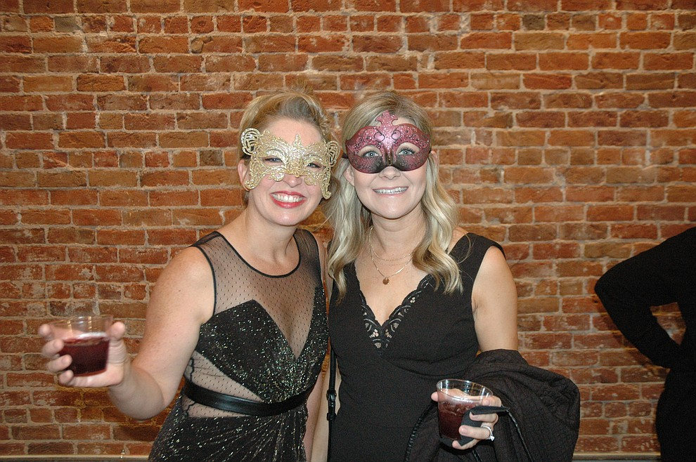 Jen Martin and Jenna James at the reveal party for the 2020 Dancing for the Stars event at The Grand Highland Hotel Wednesday, Oct. 30. (Jason Wheeler/Courier)