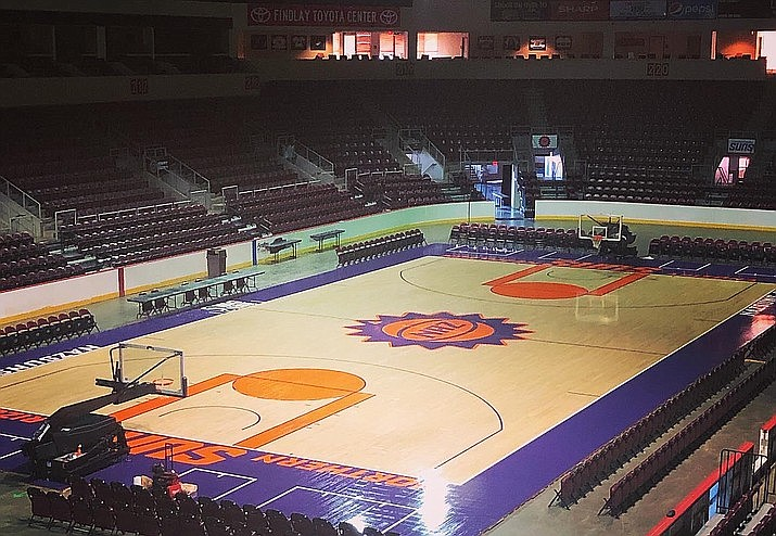 The Northern Arizona Suns will host a preseason game against the South Bay Lakers on Saturday, Nov. 2, 2019, at the Findlay Toyota Center in Prescott Valley. Admission is free. (NAZ Suns/Courtesy, file)