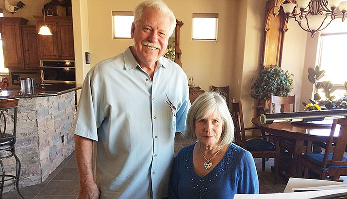 Prescott Chorale Artistic Director Dennis Houser and wife, Kay, the chorale's accompanist, are shepherding the Ruth Street Theater Project to refurbish the medium-sized venue into a professional space for both school and community performances. (Nanci Hutson/Courier)