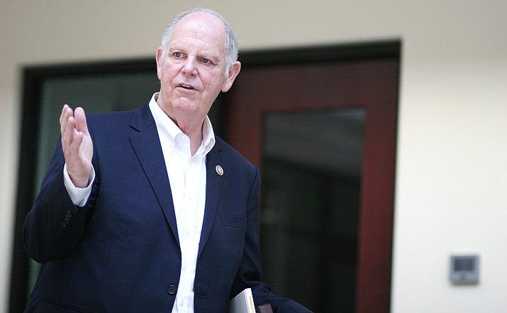 Arizona District 1 Representative Tom O'Halleran, pictured in 2017 at the Camp Verde Community Library, will hold a town hall meeting at 10 a.m. Saturday, Nov. 9 at Cliff Castle Casino Hotel. VVN/Bill Helm