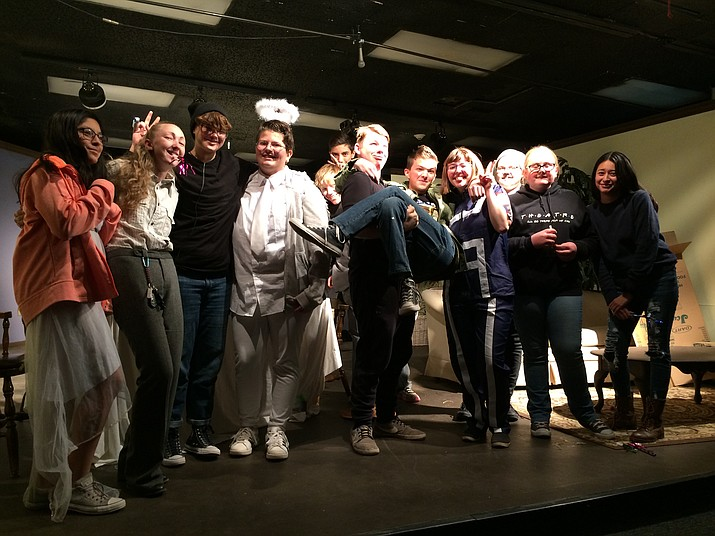 """Cast of the Chino Valley High School drama class' upcoming """"Second City, Chino Valley"""" sketch show. (Jason Wheeler/Review)"""