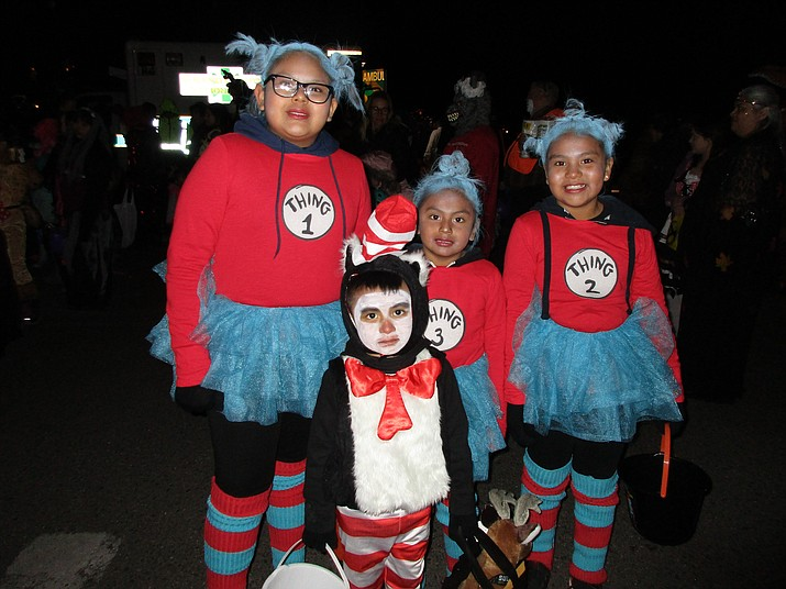 All ages arrived decked out in hopes of winning the costume contest, including Dr. Suess' Cat in the Hat characters. (Abigail Kessler/WGCN)