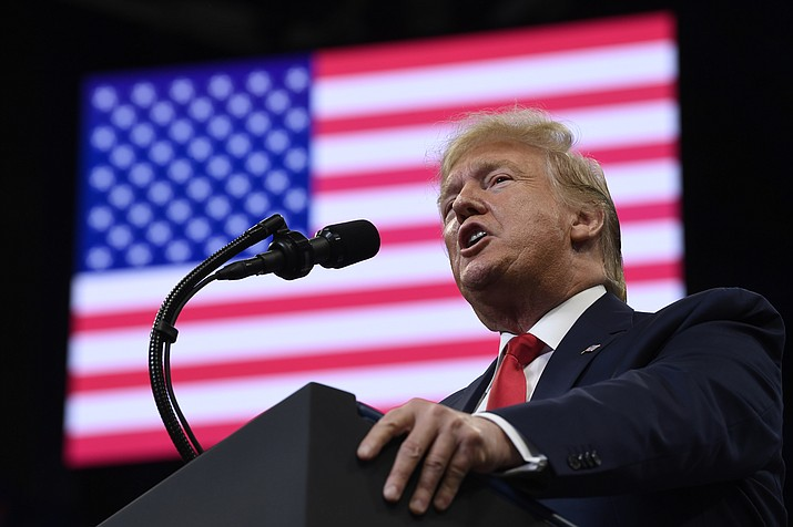 President Donald Trump speaks at a campaign rally in, Lexington, Ky., Monday, Nov. 4, 2019. (Susan Walsh/AP)