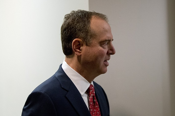 Rep. Adam Schiff, D-Calif., chairman of the House Intelligence Committee, arrives at a closed door meeting on the ongoing House impeachment inquiry into President Donald Trump on Capitol Hill in Washington, Tuesday, Nov. 5, 2019. (Andrew Harnik/AP)