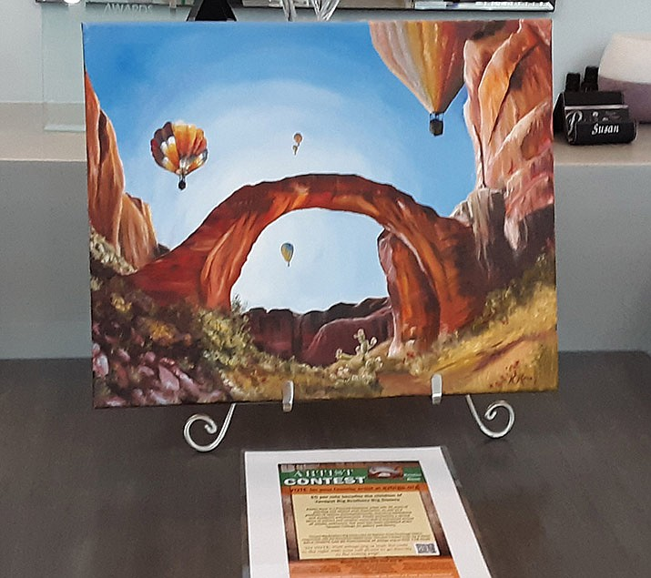 Works from 10 local artists are on display throughout Prescott for an art contest fundraiser for Yavapai Big Brothers Big Sisters. For a list of  businesses, visit azbigs.org. (YBBBS/Courtesy)