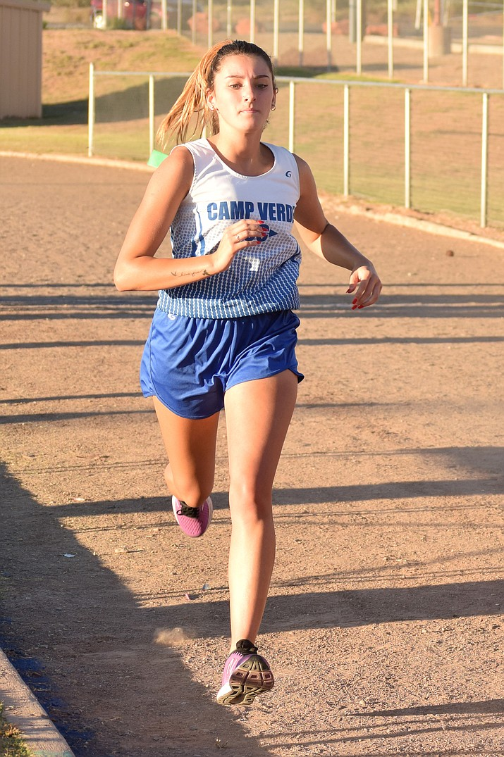 Camp Verde senior Raven Pelfrey was 115th at the Holbrook Invitational, the Cowboys' last meet.  VVN/James Kelley