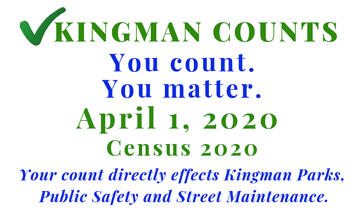 The City of Kingman has created a page on its website that provides additional information on the 2020 Census for those who still have questions.