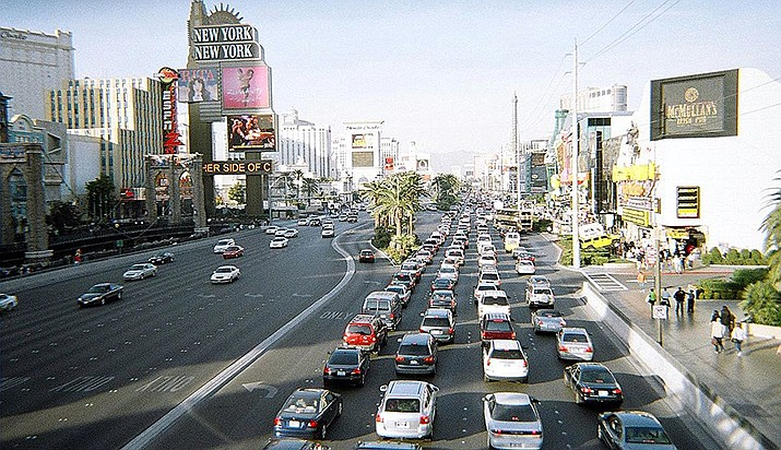 The City of Las Vegas is considering a law that would make it illegal to sleep on the streets. (Photo by Mike Russell, cc-by-sa-3.0, https://bit.ly/34E4wKl)