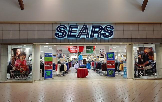 The indoor entrance to Sears at Prescott Gateway Mall. After 18 years at the mall, the store will close for good in February 2020. (Doug Cook/Courier)