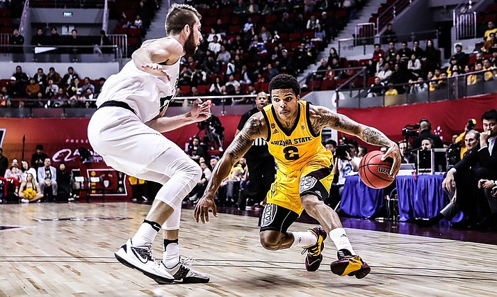 Rob Edwards tallied 20 points during Arizona State's 81-71 season-opening loss to Colorado in Shanghai. (Photo courtesy of Sun Devil Athletics)