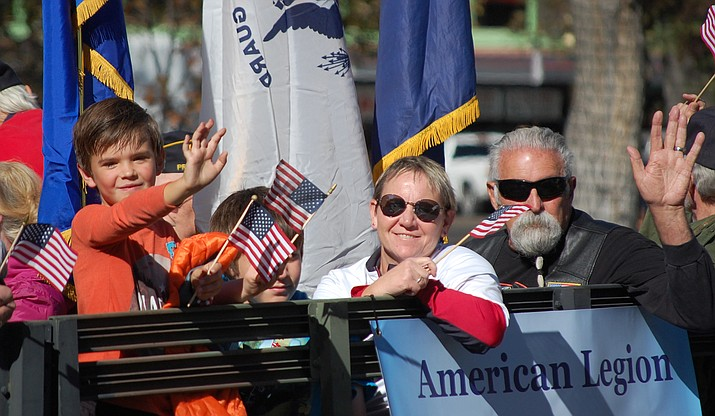 "Prescott salutes veterans with a parade each year (pictured is the American Legion entry from 2018), and this year's Veterans Day Parade will be the largest — with nearly 100 entries downtown on Monday, Nov. 11. This year's parade theme is: ""Honoring Korean War Veterans: Never Forget Their Service."" (Tim Wiederaenders/Courier, file)"