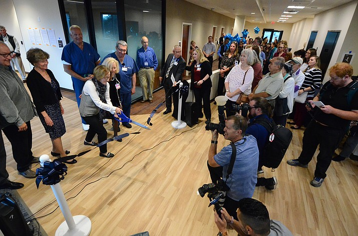 A ribbon-cutting ceremony was held last week for a newly remodeled building that sits just to the south of Verde Valley Medical Center, which will house a number of outpatient services. VVN/Vyto Starinskas