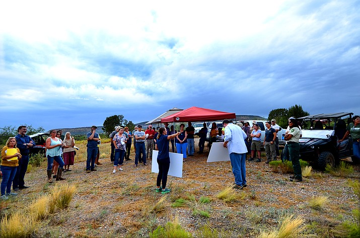 """A group gathered this summer in response to a proposed """"glamping"""" business in the Cottonwood area. Under Canvas, the glamour camping company that proposed a 100-tent luxury camping site on 82 acres at the end of Bill Gray Road, has withdrawn its application. VVN file photo/Vyto Starinskas"""